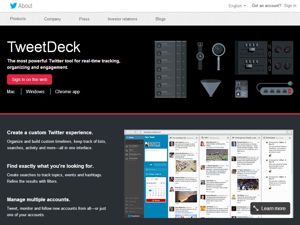 Twitterのタイムライン管理にTweetDeckがオススメな5つの理由