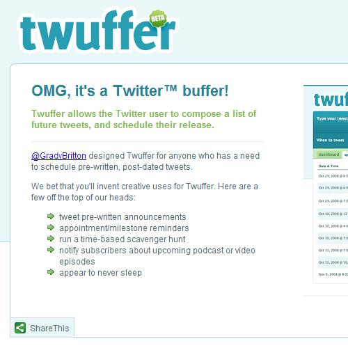 上手く使えばツイッターが安定したアクセス供給源になるかも?予約ツイートツール「twuffer」