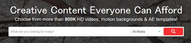 Videoblocksに登録されている素材数