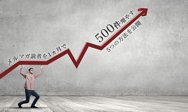 メルマガ読者を1ヵ月で500件増やす5つの方法を公開します