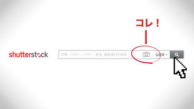 Shutterstockの写真検索機能