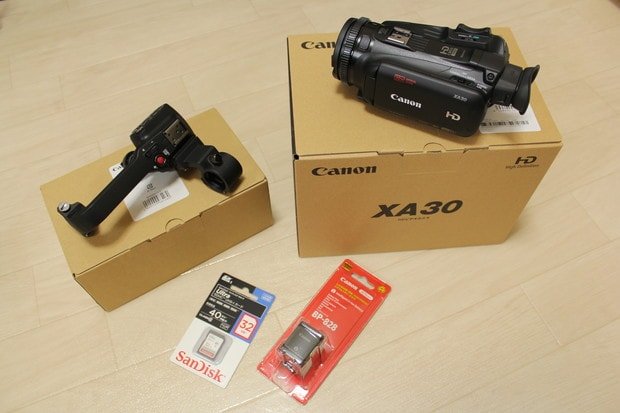 XA30 ハンドルユニットセット 特典としてバッテリー+SDカード