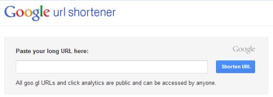 Google短縮URL