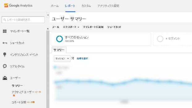 解析データトップ画面