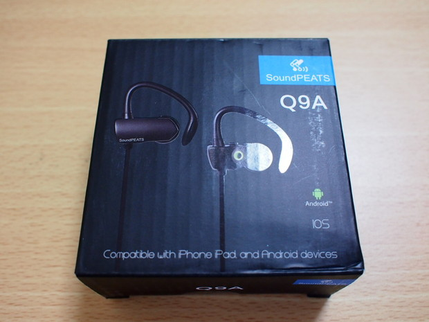 SoundPEATSのBluetoothイヤホン「Q9A」パッケージ
