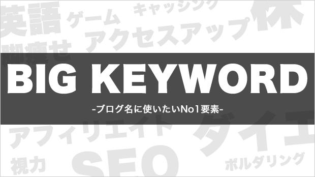 専門ブログの場合はビックキーワードを使う